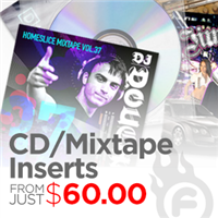 16pt CD / Mixtape Inserts