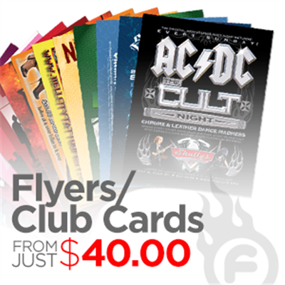 Flyers / Club Cards (RUSH)
